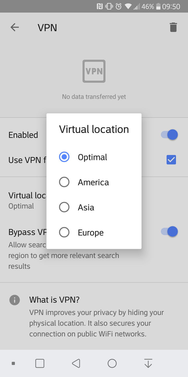 opera 51 vpn android 4