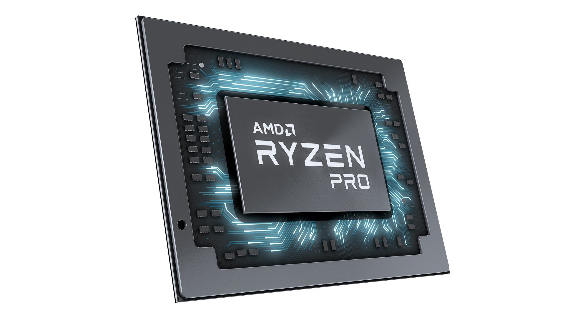 AMD Ryzen PRO Mobile Chip Shot 04
