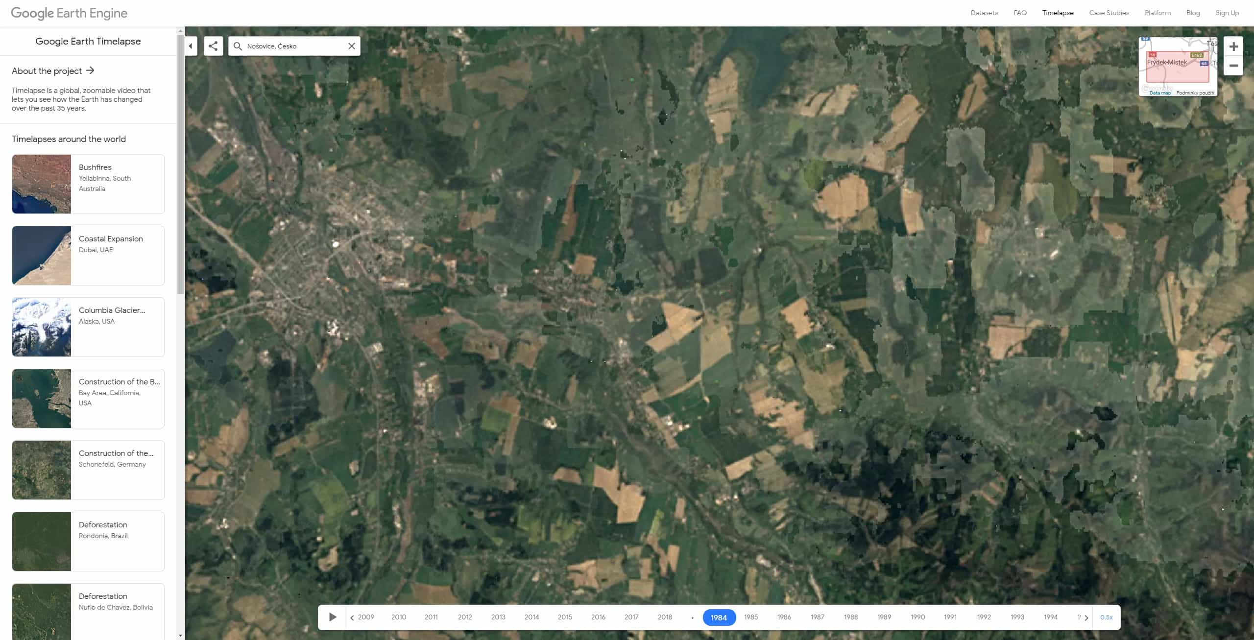 google earth timelapse cesko 09