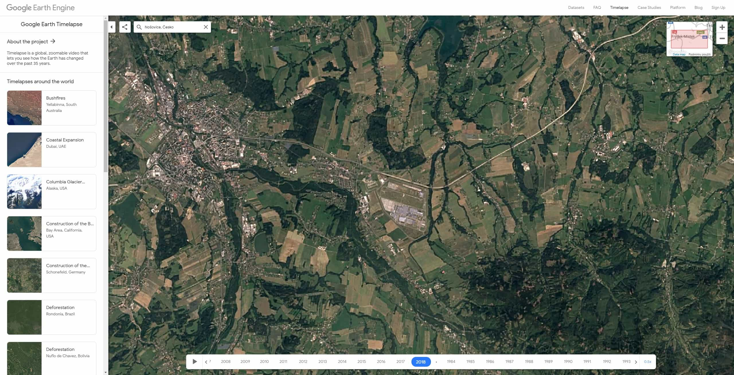 google earth timelapse cesko 10