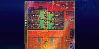 Intel Ice Lake U snimek cipu 1600