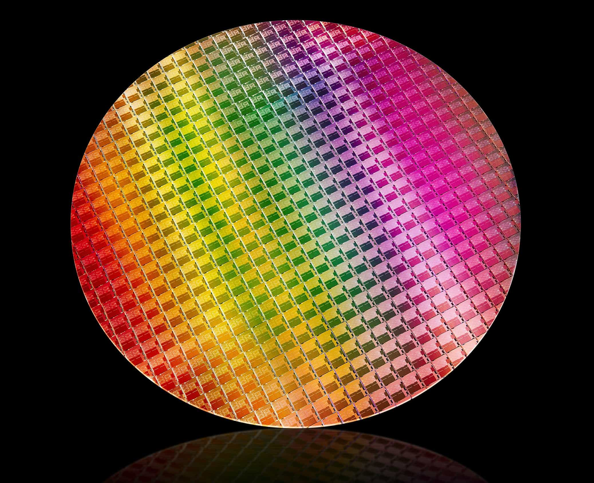 Procesor Intel 10 Generace Core Ice Lake Wafer