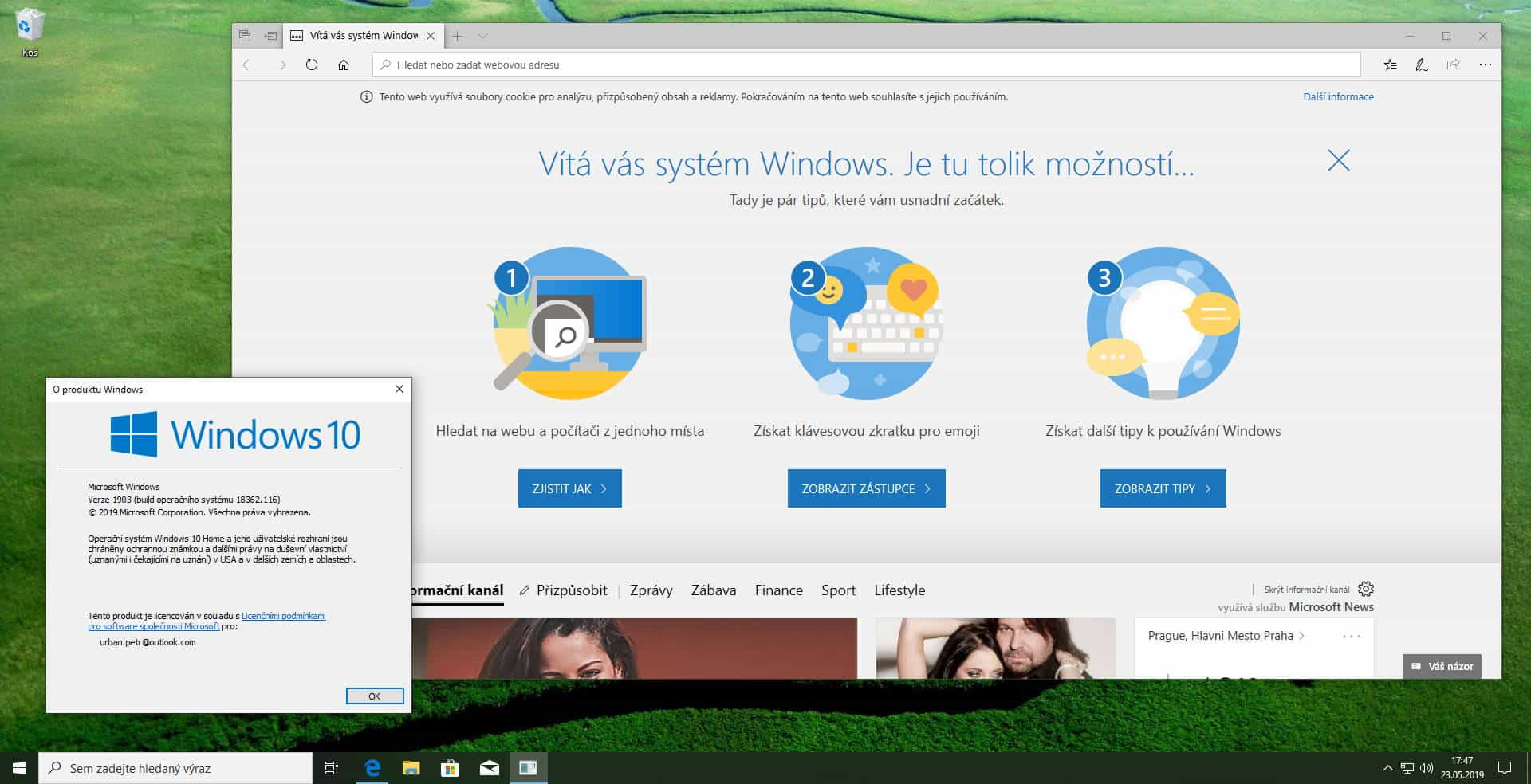 upgrade nabidka windows 10 verze 1903 8