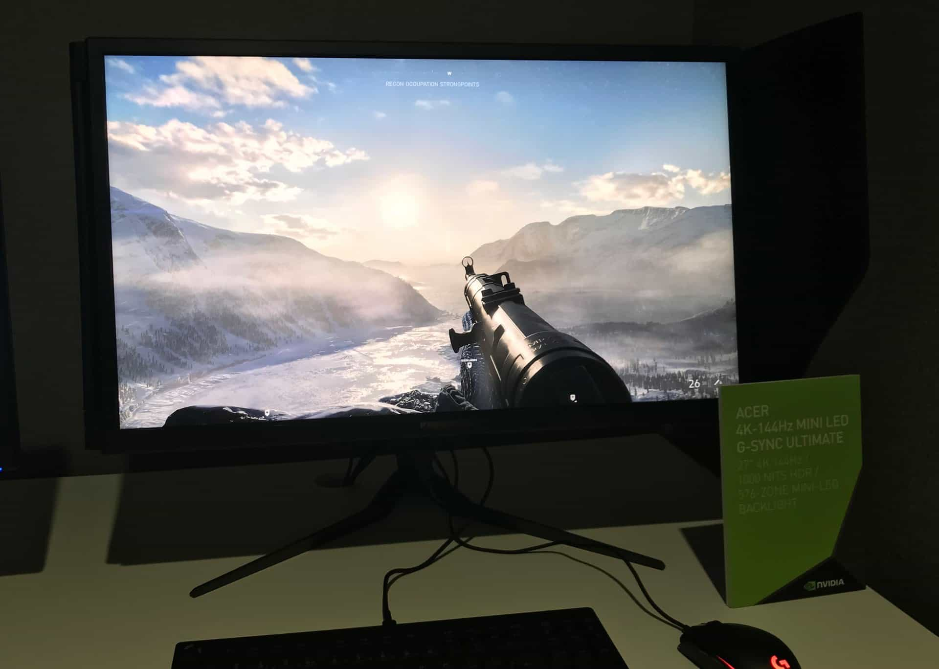 4K miniLED monitor Acer s G-Sync Ultimate (Zdroj: AnandTech)