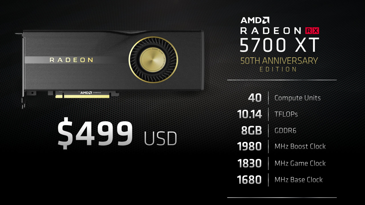 AMD Radeon Navi RX 5700 XT 50Th Anniversary Edition