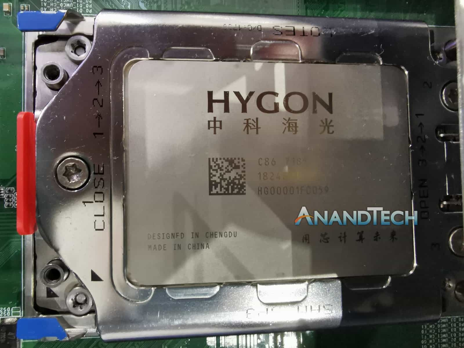 Hygon Dhyana AnandTech