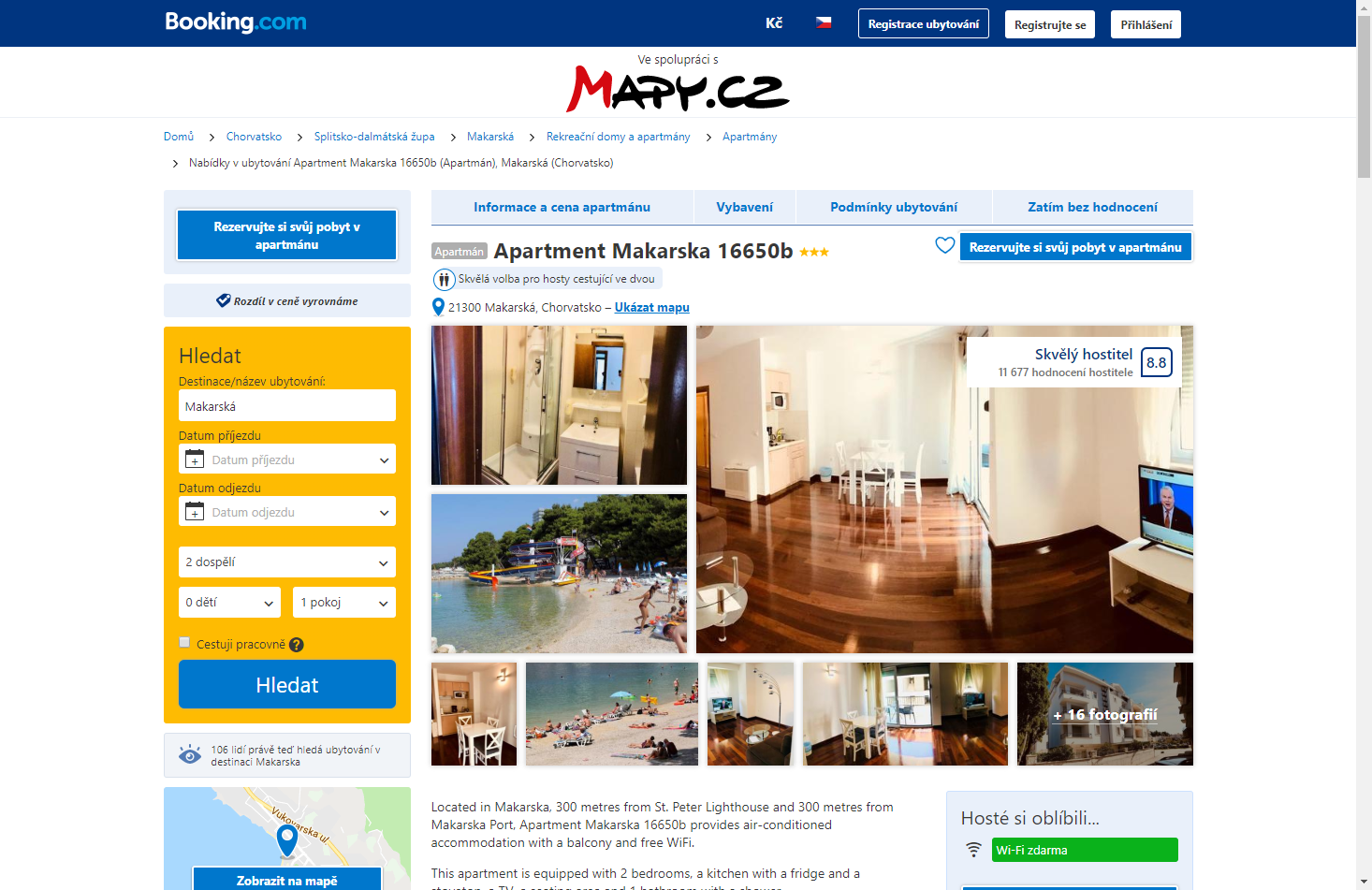 mapycz booking 2