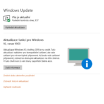 windows update upgrade nekompatibilita v1903