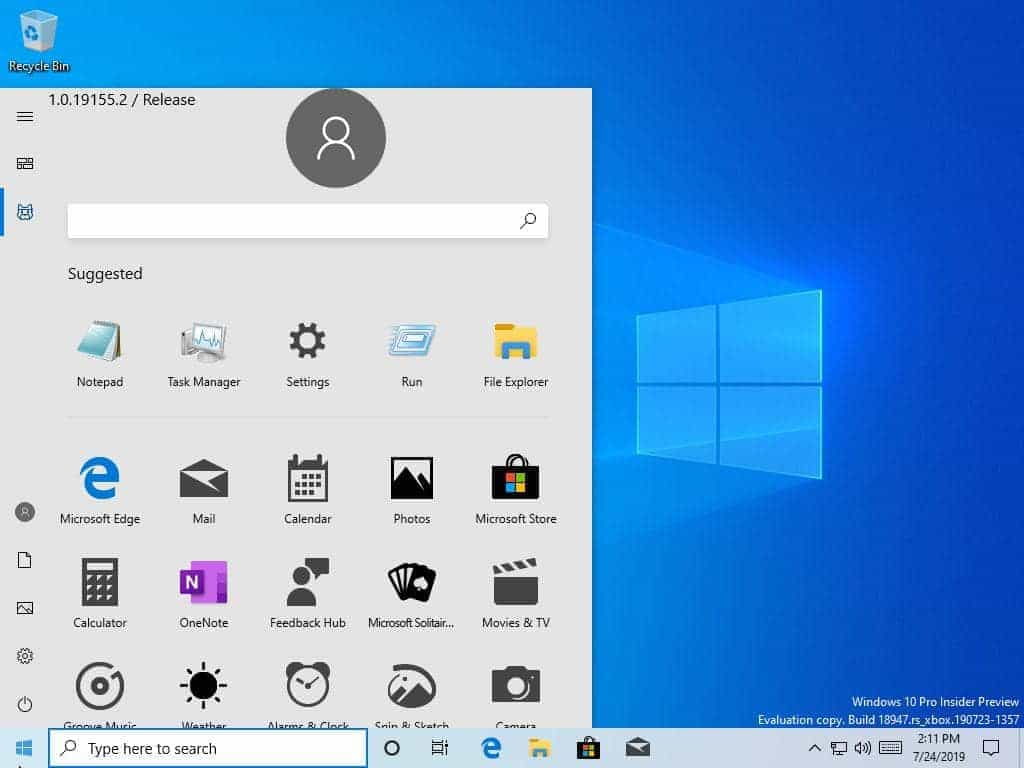 7Windows 10 Insider Preview Build 18947 1