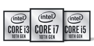 Intel Comet Lake Core i7 i5 i3 ilustrace 1600