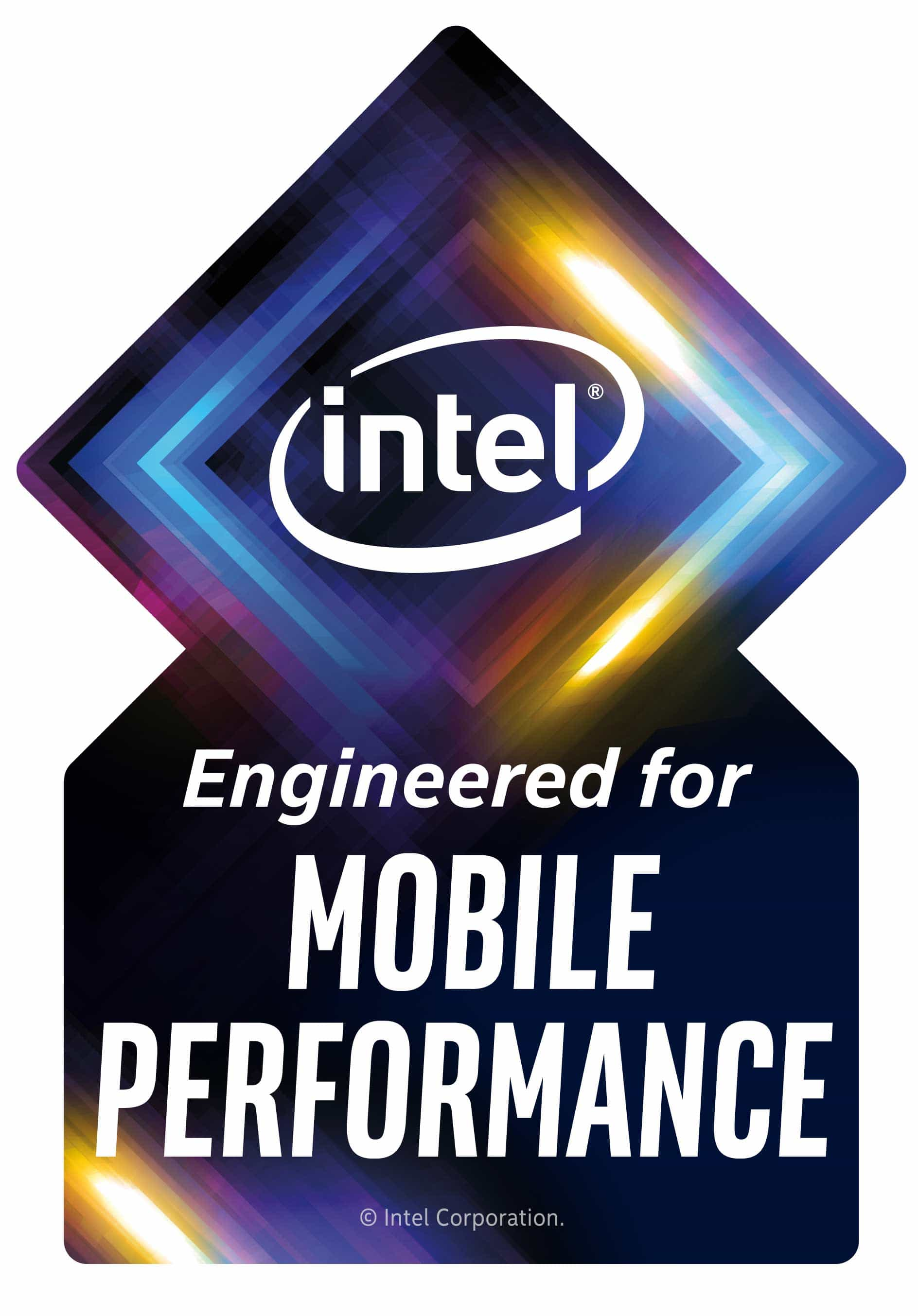 Intel Project Athena logo Engineered for mobile performance