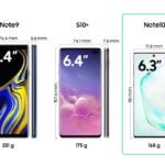 Samsung Galaxy Note10 Comparison other models