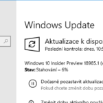 Windows 10 Insider Preview build 18985 najdete ve Fast ringu