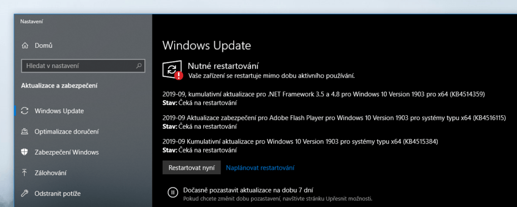 aktualizace windows update msft 09 2019 1