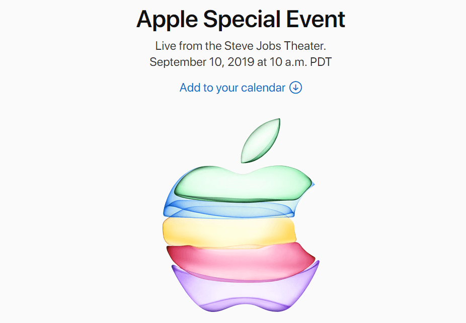 apple september 2019 invite