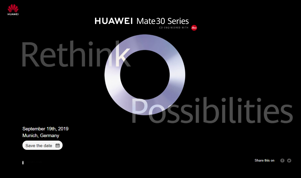 huawei september 2019 invite