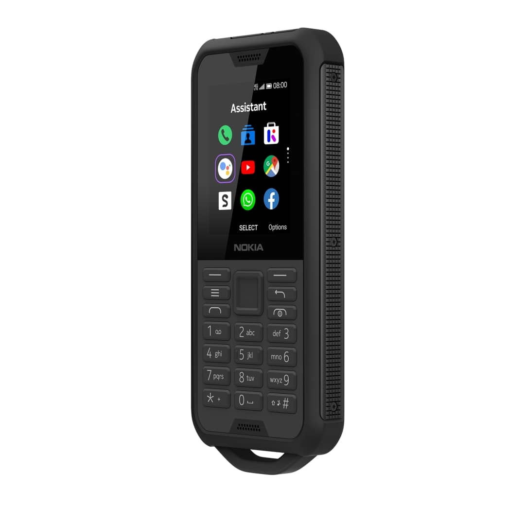 Nokia 800 Tough BLACK DS HS right quarter