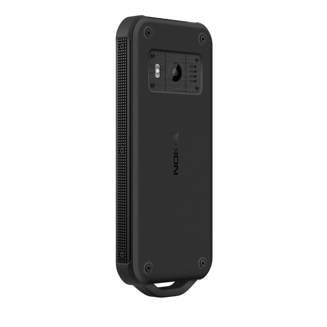 Nokia 800 Tough BLACK back left quarter