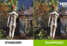 Nvidia filtr Improved Image Sharpening 1600