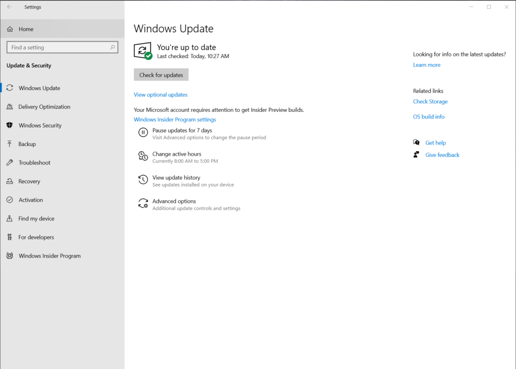 Windows 10 Insider Preview Build 19536 2