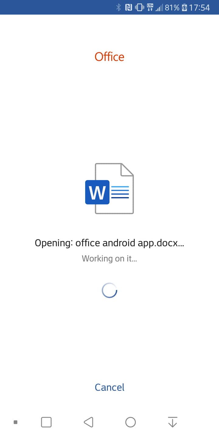 office app android preview 3