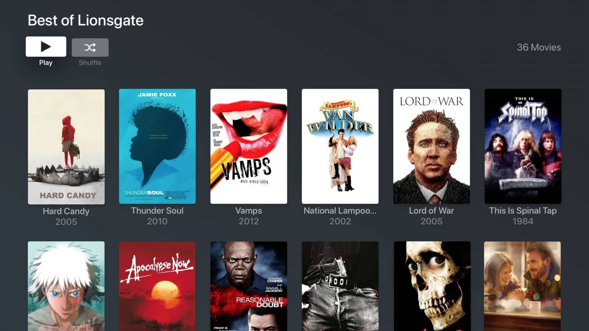 plex movies and tv lionsgate