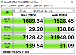 Transcend 220S 500GB real