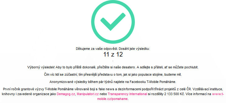 Fake News T Mobile výsledek