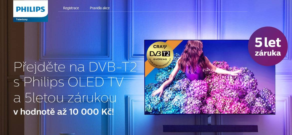 Philips OLED 5 let záruka