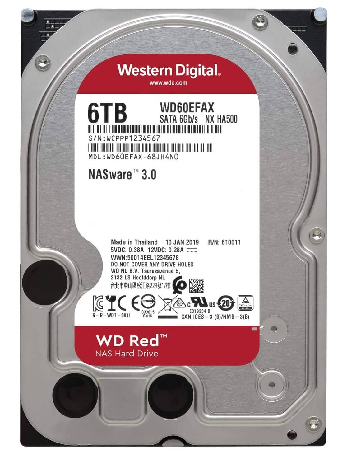 6TB disk WD Red revize 0EFAX se SMR Amazon