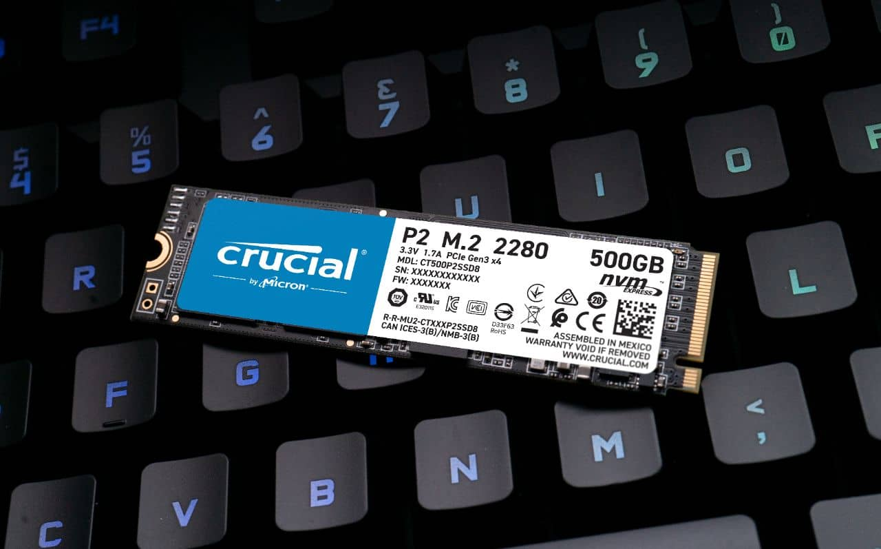 NVMe SSD Crucial P2 02