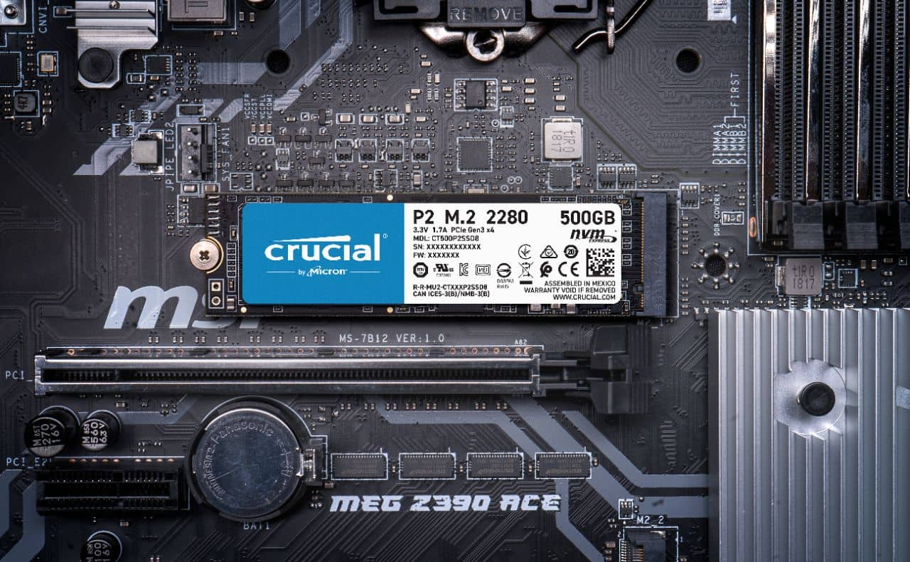 NVMe SSD Crucial P2 04
