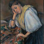 Paul Cézanne French Young Italian Woman at a Table Google Art Project
