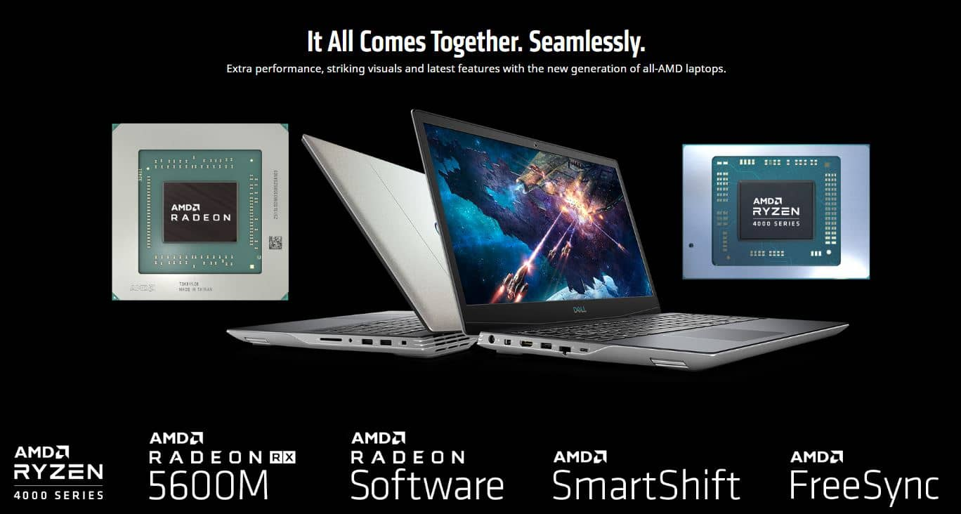 AMD SmartShift v notebooku Dell G5 15 SE