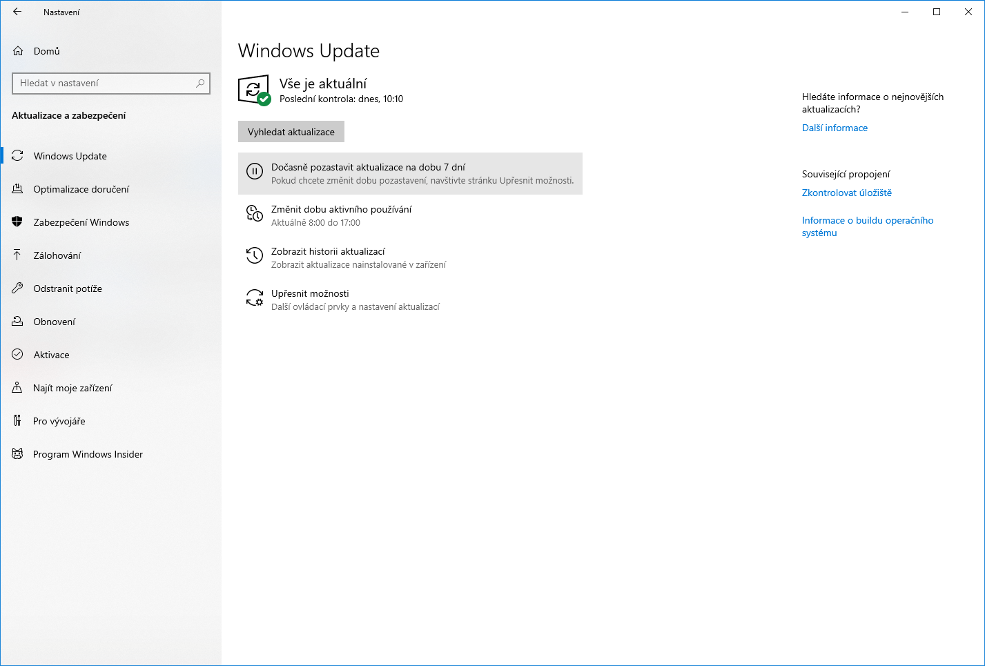 windows 10 pozastaveni aktualizace upgrady 5