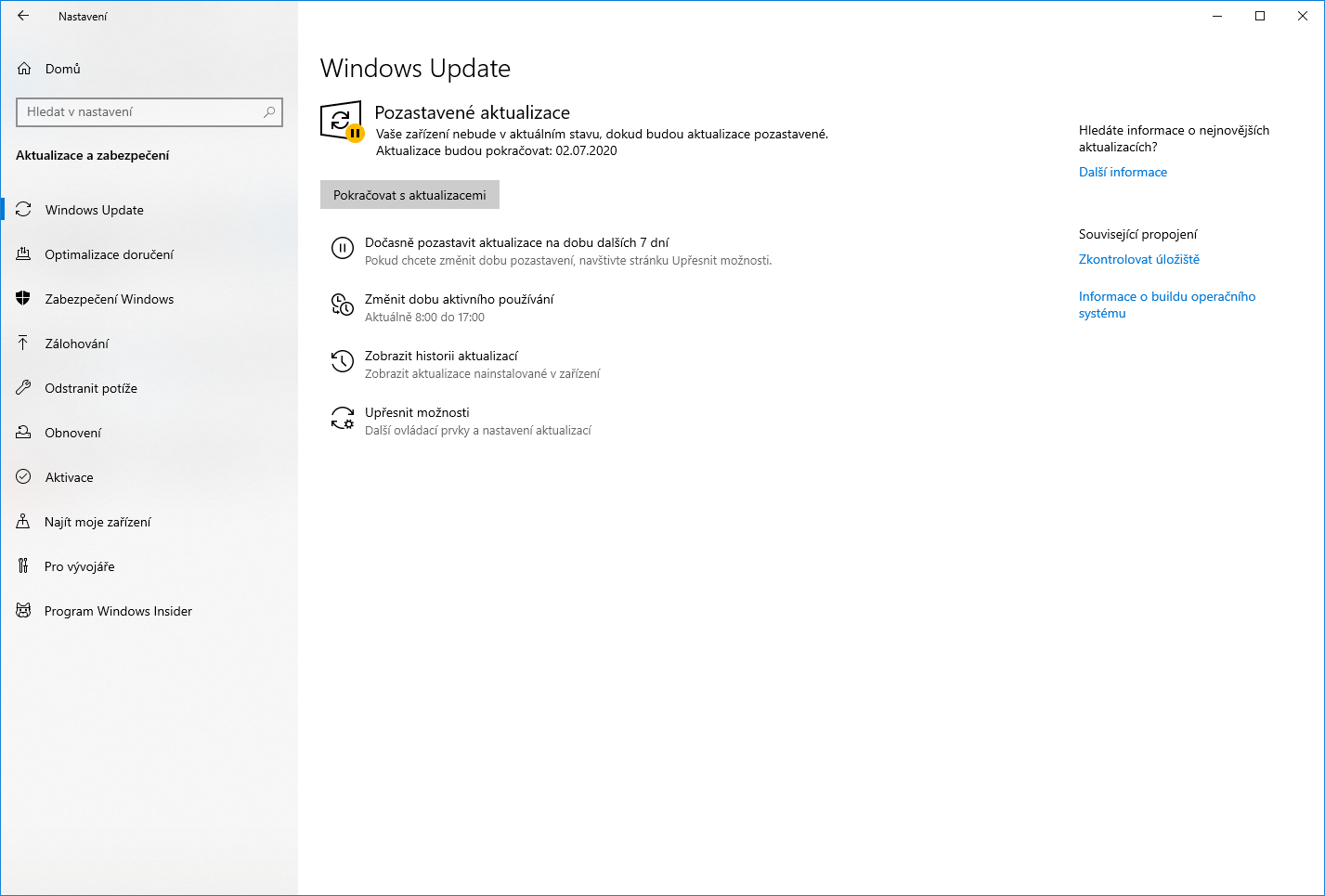 windows 10 pozastaveni aktualizace upgrady 6
