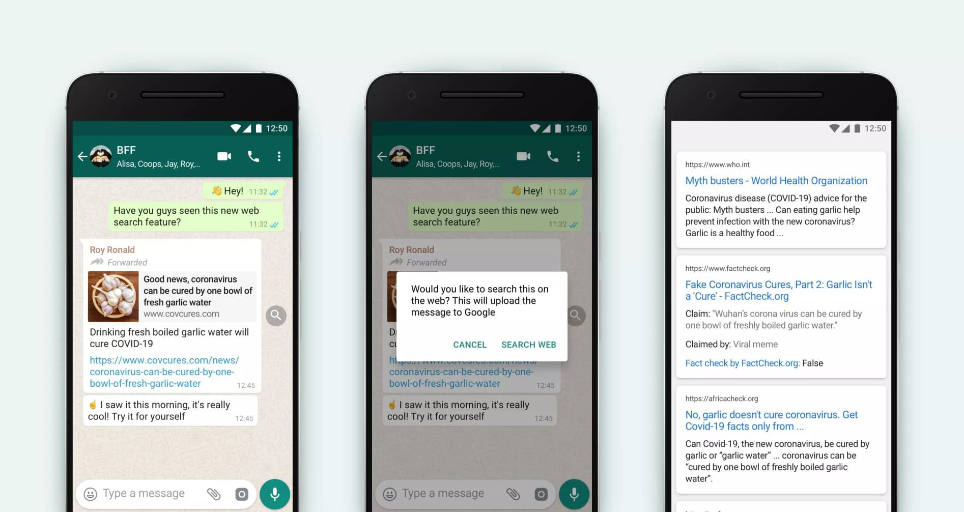 whatsapp dezinformace hledani google official