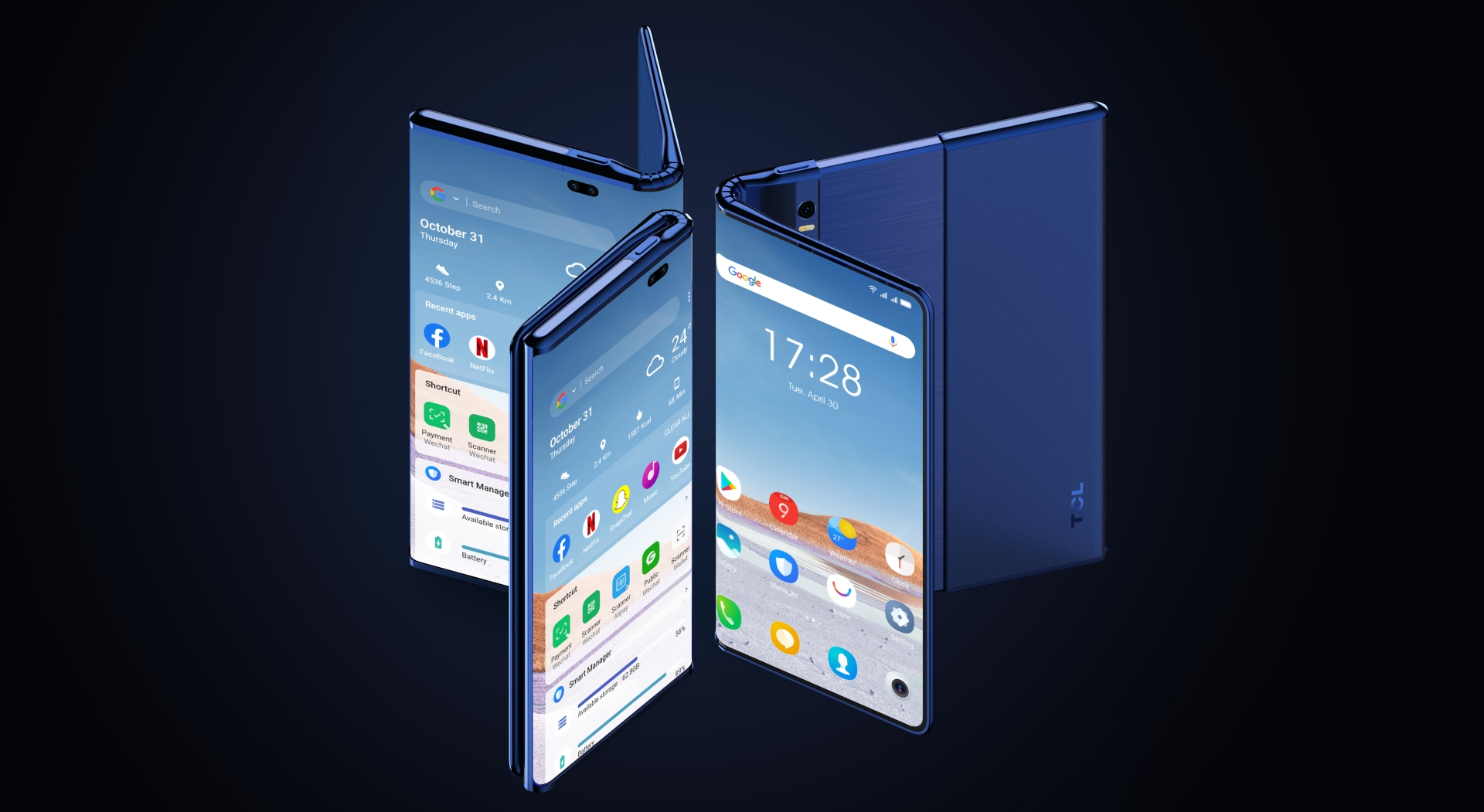 TCL Fold n Roll concept smartphone 9