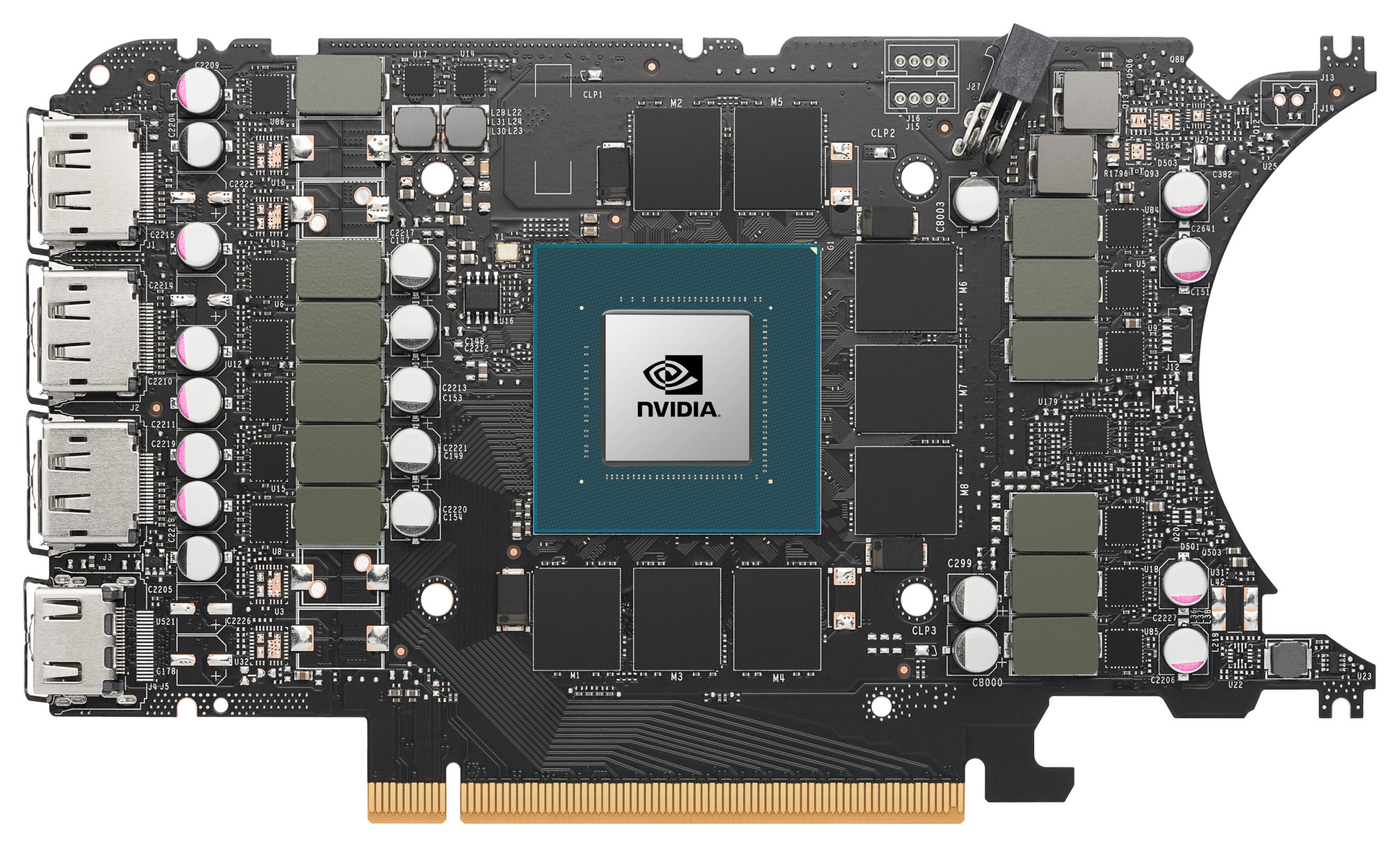 Nvidia GeForce RTX 3070 Ti Founders Edition PCB