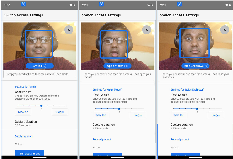 Androids Camera Switches lets you control your phone with your face